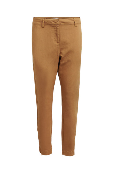 "Rabens Saloner ""Emy"" Summer canvas relax fit pant, Rust"