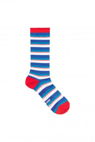 Mads Nørgaard, Viscose Andilla Socks, Navy/Red Multi