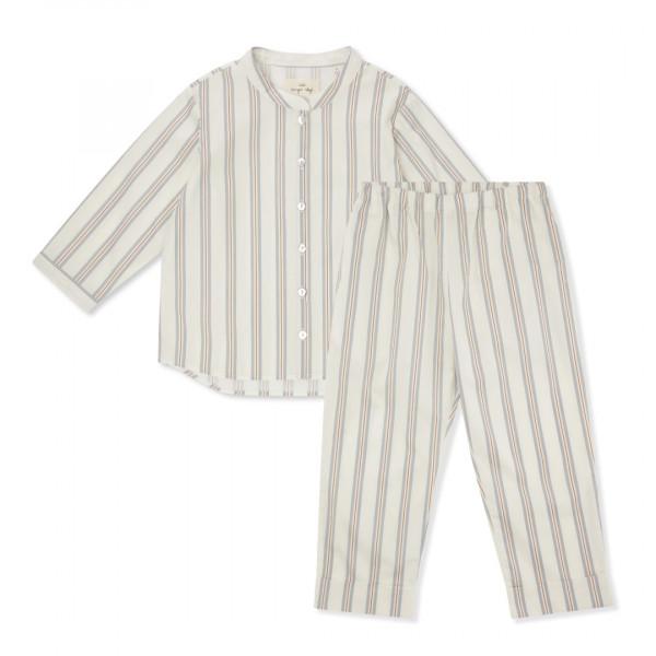 Konges Sløjd, Strands Havet Vintage Stripe Kids Pyjamas, Blue Vintage Stripes
