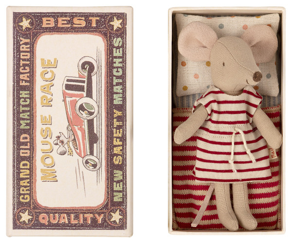 Maileg, Big sister mouse, in matchbox
