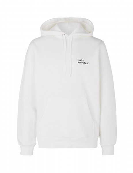 Mads Nørgaard Men, New Standard Hoodie Logo, Marshmallow