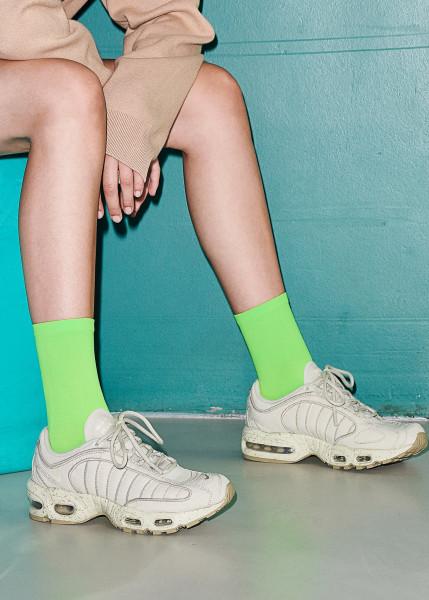 Dear Denier, Line Eco Socks, Neon Green, One Size