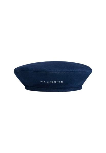 Blanche, Denim Baret Hat, Rinse Denim