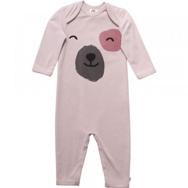 "müsli by green cotton ""bodysuit with teddy bear print"" rose"