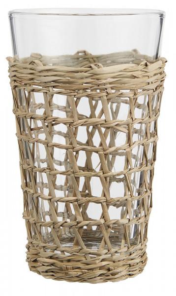 Ib Laursen, Trinkglas mit Strohgeflecht