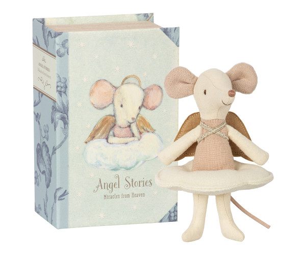 Maileg, Angel Mouse, Big Sister in Book