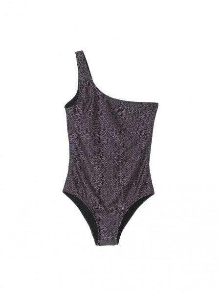 """Beck Söndergaard """"Besra One Shoulder Swimsuit"""" Gray Dawn, S"""