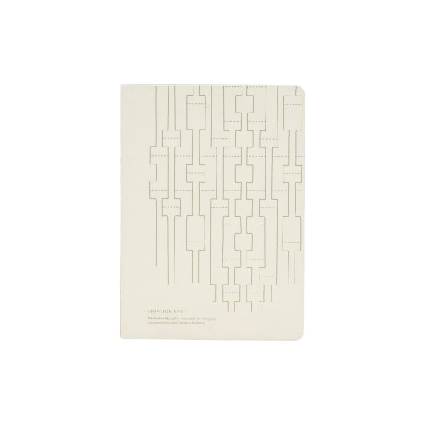 Note Book, Geometric Ecru