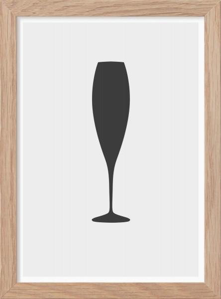 Kunskapstavlan, Poster, Champagneglas - Mini Print A5