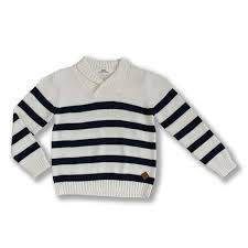 "Ebbe ""Navarro Sweater""Navy Stripes"