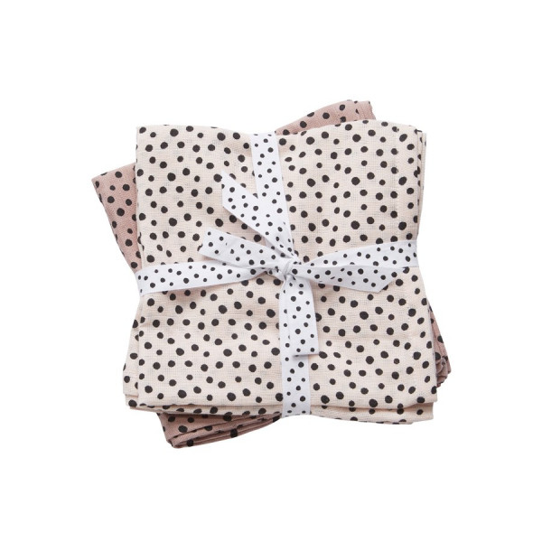 """Done By Deer """"Swaddle, 2-pack"""" Happy dots, powder"""