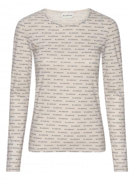 BLANCHE, Comfy Longsleeve T-Shirt, White