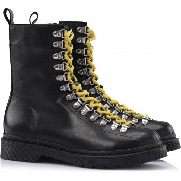 Shoe Biz, Kenza Velvet Leather, Black