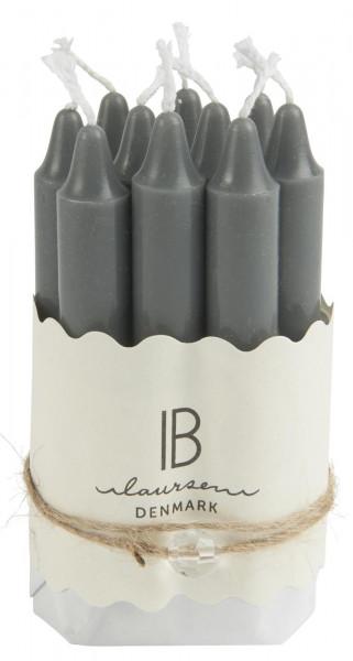 Ib Laursen, Set aus 10 kleinen Kerzen, grau