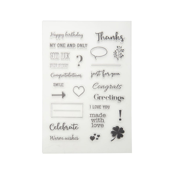 "monograph, Silicone Stamp Sheet ""Everyday"""