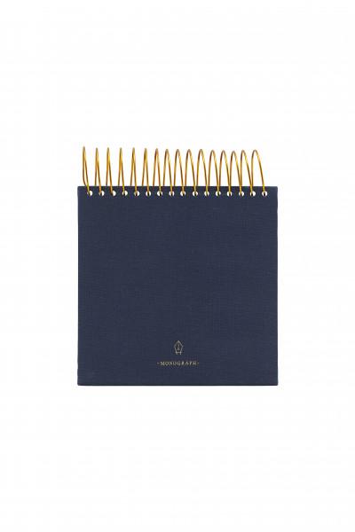 monograph, Spiral-Notizbuch, blau, 14x14