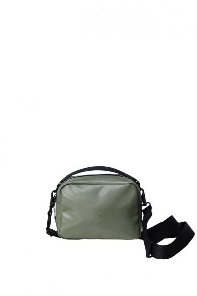 Rains, Box Bag, Shiny Olive