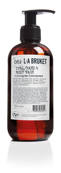 "L:A Bruket No. 069 ""Hand & Body wash"" Lemongrass 250ml"