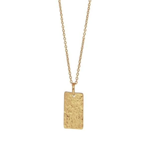 Nordahl Halskette TWO SIDED52, vergoldet