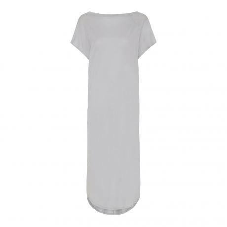 "Rabens Saloner ""Natasha Twisted Jersey Long Dress"" Grey"