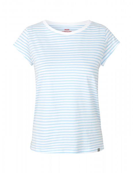 "Mads Nørgaard, Organic Favorite Stripe ""Teasy"" White/Sky Blue"