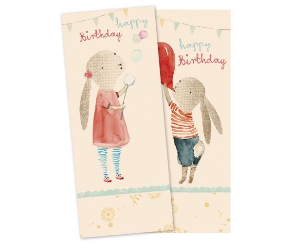 """Maileg """"Napkin"""" Happy Birthday"""