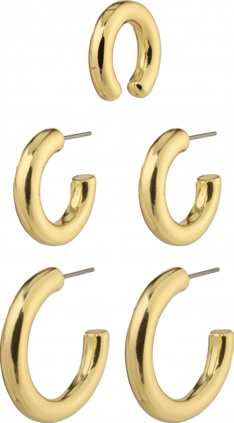 Pilgrim, RECONNECT, Chunky Hoops and Ear Cuff 3 in 1, vergoldet