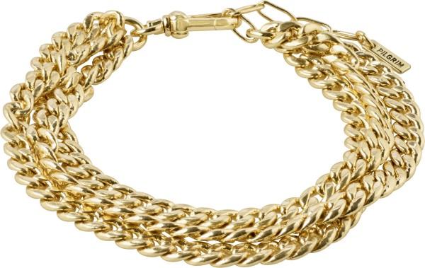 Pilgrim, AUTHENTICITY, Curb Chain, Armband, vergoldet