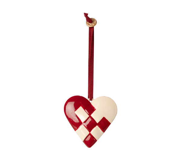 Maileg, Metal Ornament Large Heart, Red