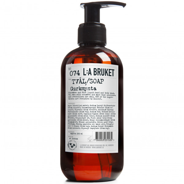 "L:A Bruket, No.74 ""Liquid Soap"" Cucumber/Mint, 250ml"
