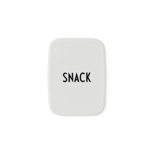 Design Letters, Snack box, White