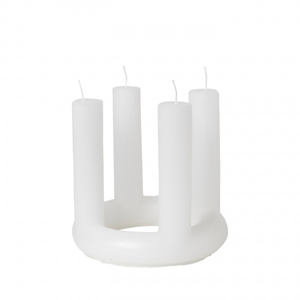Broste Copenhagen, ADVENT CANDLE 'LUCIA' PURE WHITE