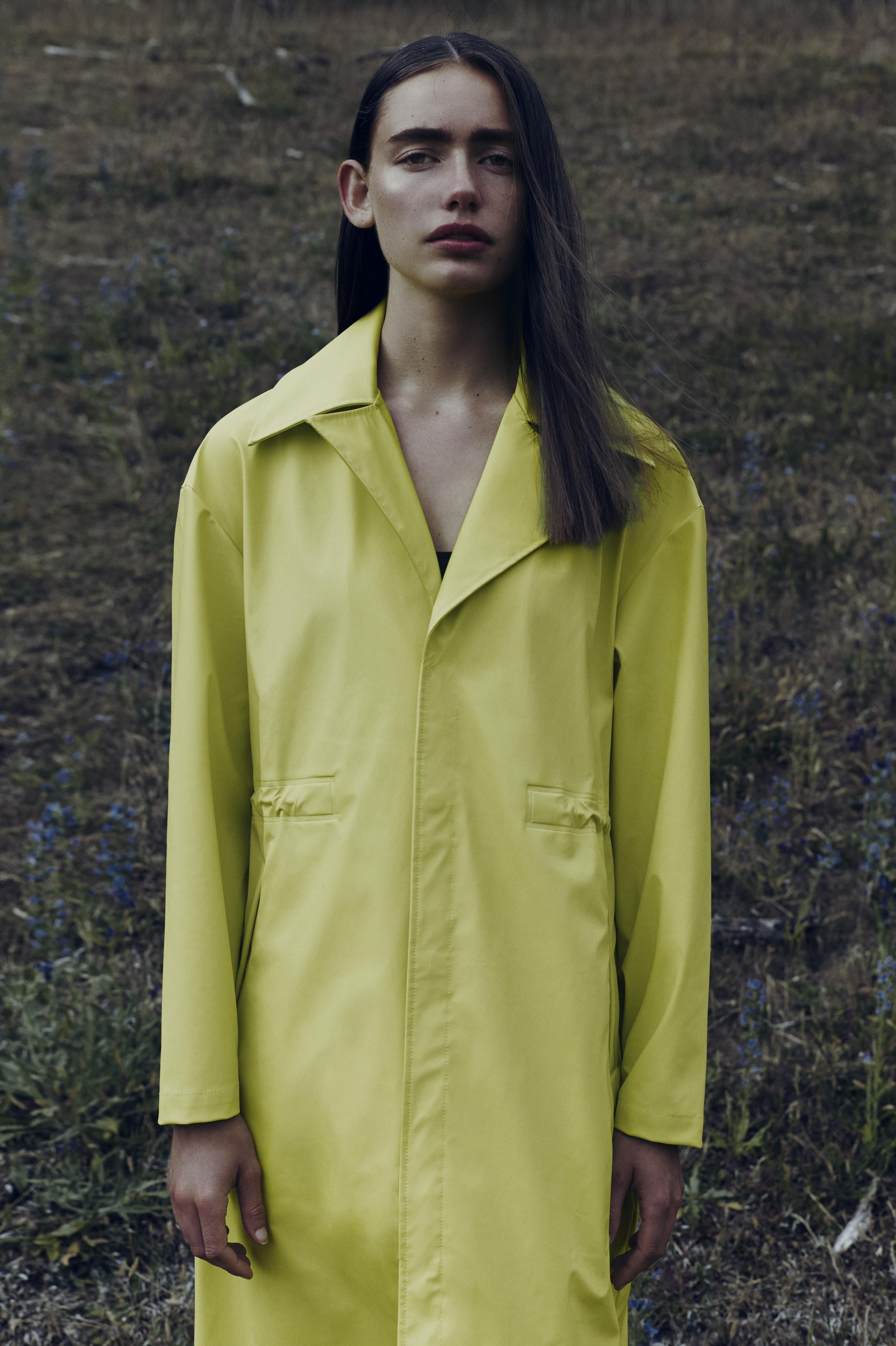 7fac9b1d RAINS, LTD Curve Coat, Neon Yellow   Coats, Jackets & Blazer ...