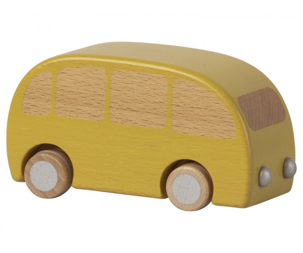 "Maileg ""Wooden Bus"" Yellow"