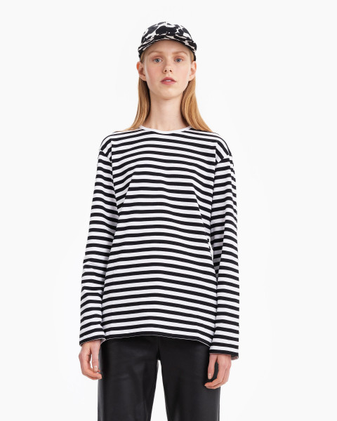 Marimekko, Pitkähiha Shirt Paita, Black/White