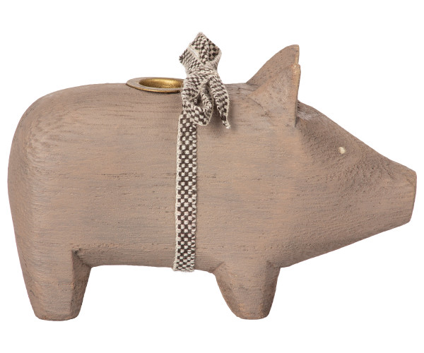 Wooden Pig Grey, small
