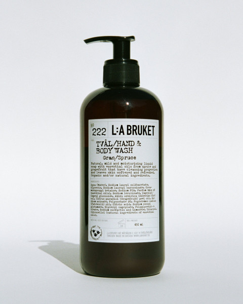 "L:A Bruket, No.222 ""Hand & Body Wash"" Spruce, 450ml"
