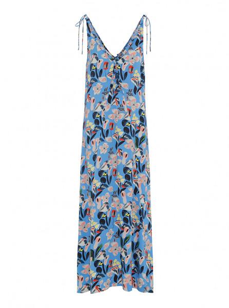 Custommade, Mira Flower Dress, Azure Blue