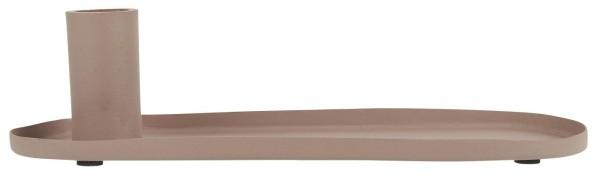 Kerzenhalter für Stabkerze oval malva