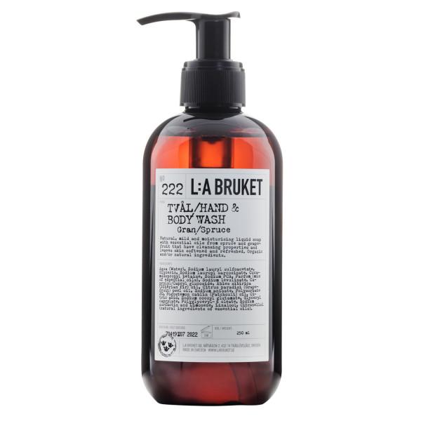 "L:A Bruket No. 222 ""Hand & Body Wash"" spruce, 250ml"