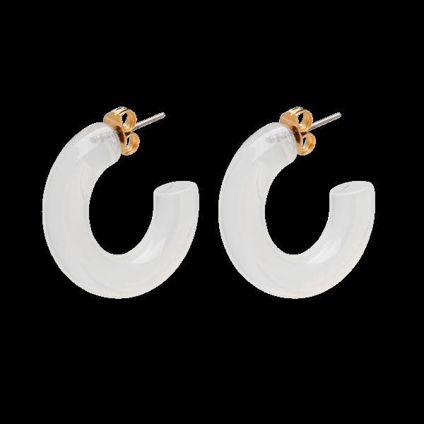 Anna+Nina Jellybean Earrings, White