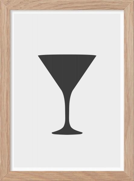 Kunskapstavlan, Poster, Martini Glas - Mini Print A5