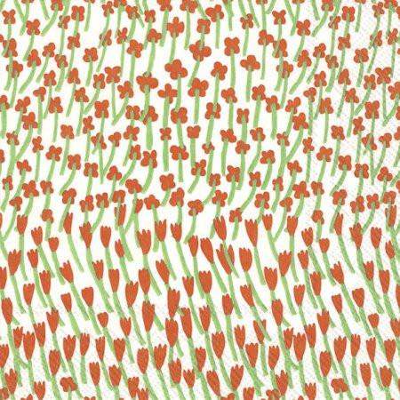 """Marimekko """"Cocktail Servietten APILAINEN"""" White red"""