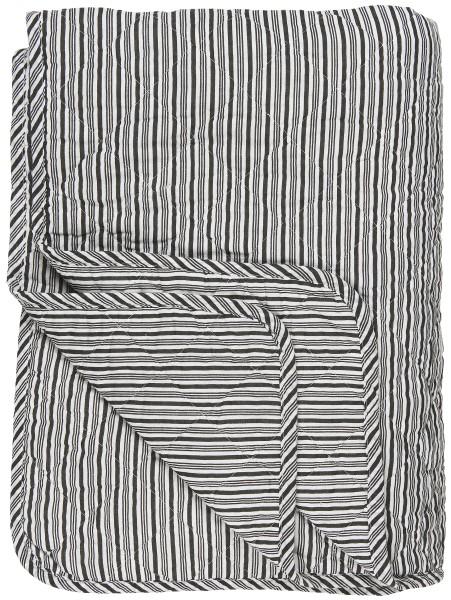 Ib Laursen, Quilt, schwarz/weiß gestreift 130x180cm