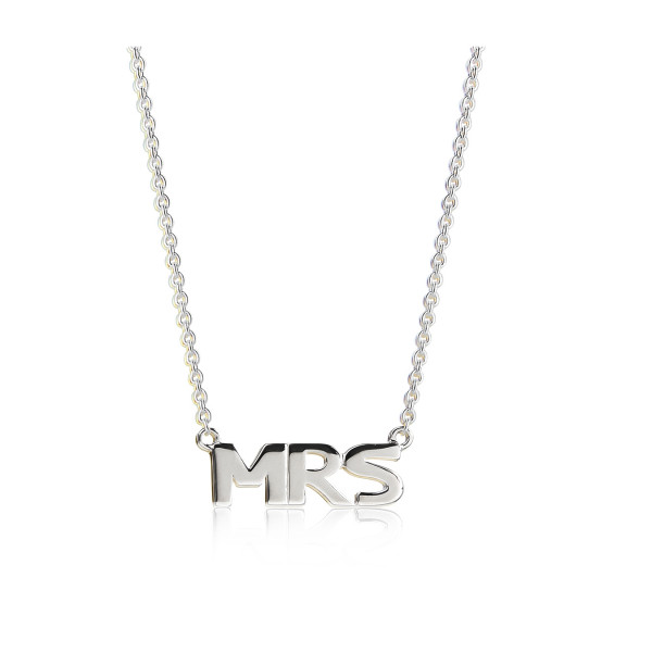 "Jeberg, ""MRS"", Necklace, Silver"