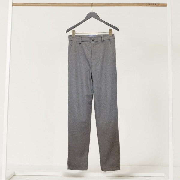 Nate Wool Pants, Dark Grey