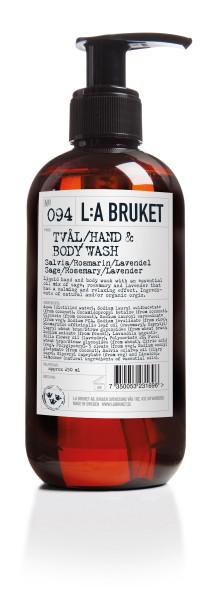 "L:A Bruket, No. 094 ""Hand & Body wash"" Sage/ Rosemary/ Lavender 250ml"