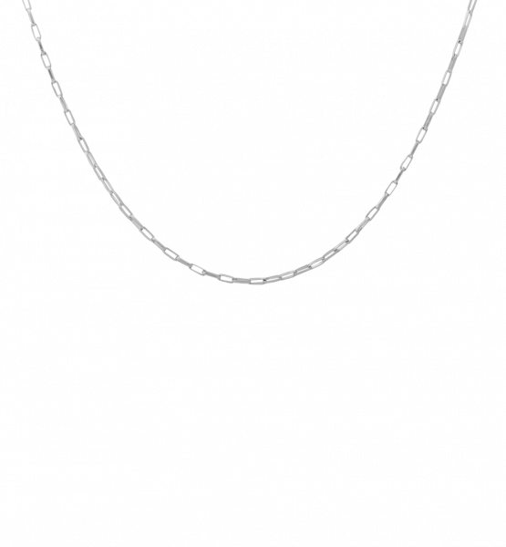 Anna+Nina, Lifeline Plain Short Necklace, Silber