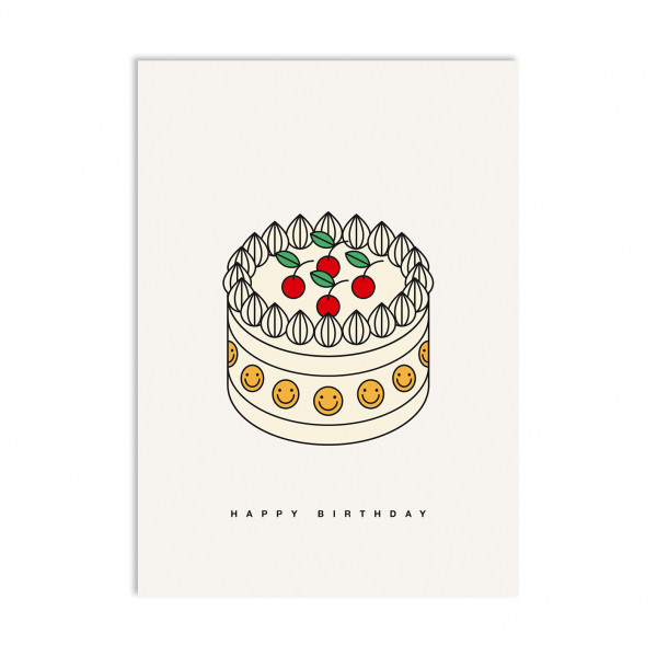 red fries, Postcard, Birthday Cake
