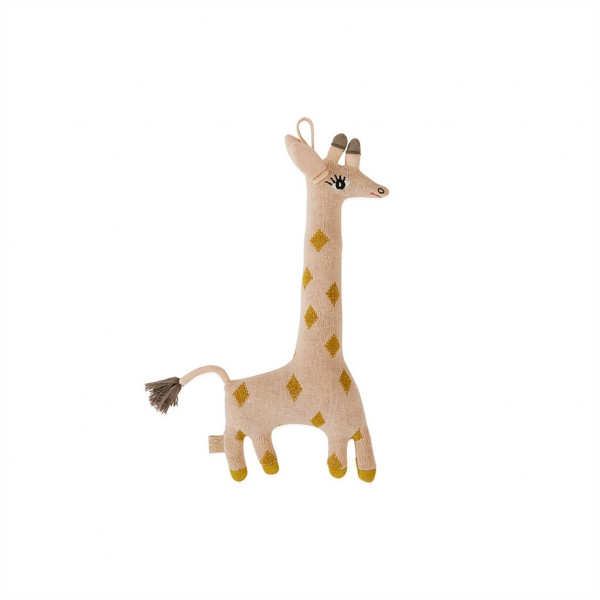OYOY, Darling Cushion - Baby Guggi Giraffe, Rose/Amber